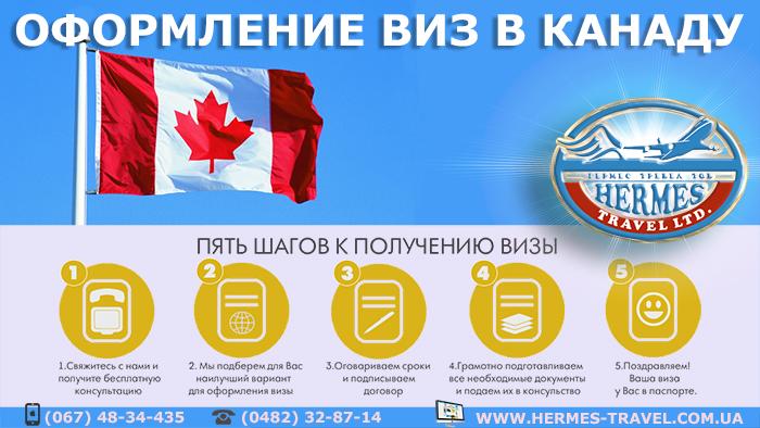 Оформление виз в Канаду